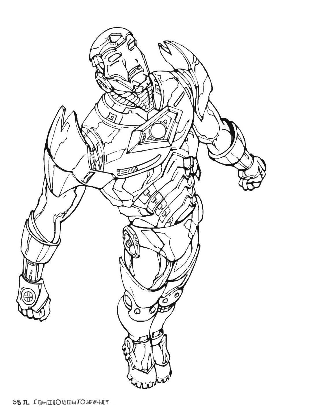 Dessin Avengers Iron Man à Coloriage Avengers A Imprimer