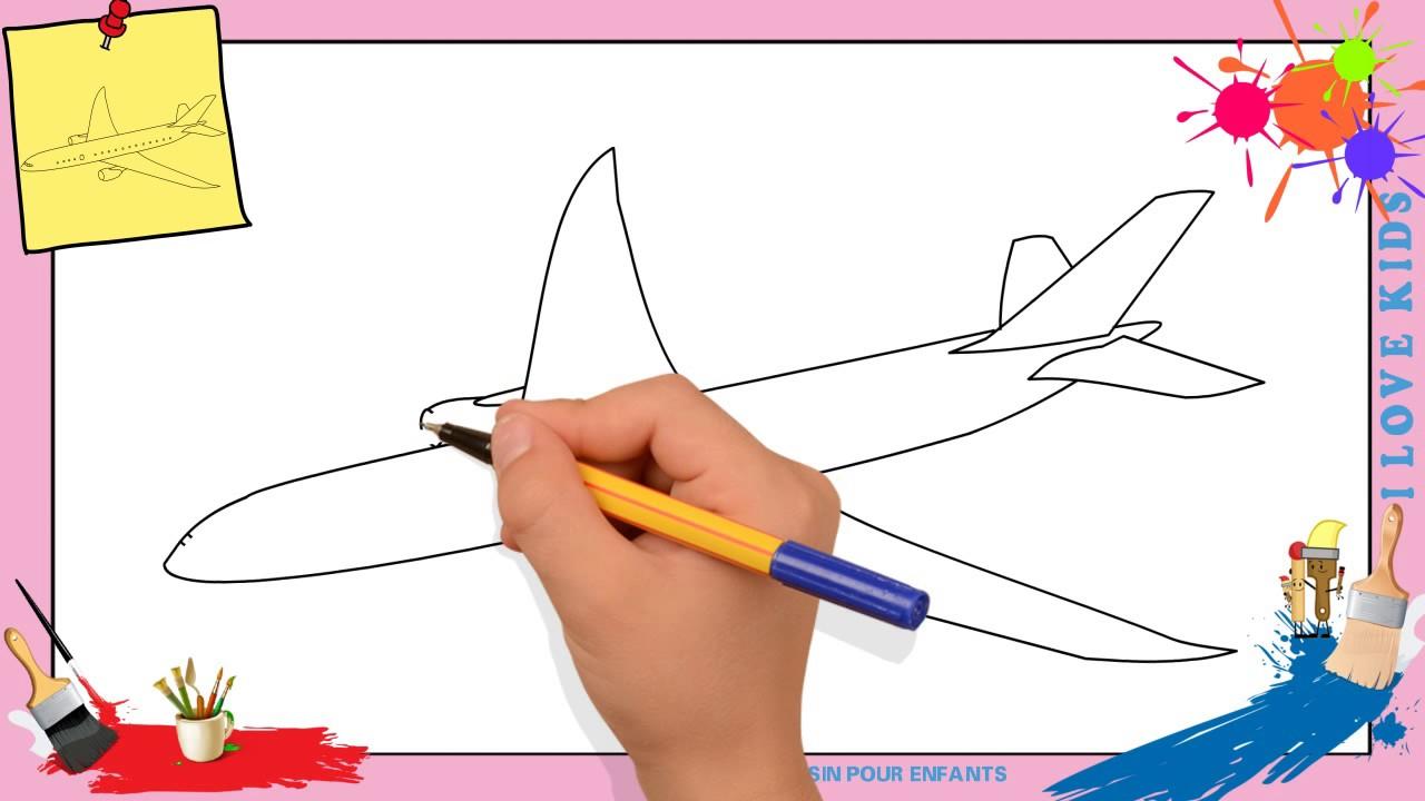 Dessin Avion - Comment Dessiner Un Avion Facilement Etape concernant Comment Dessiner Un Diable Facilement