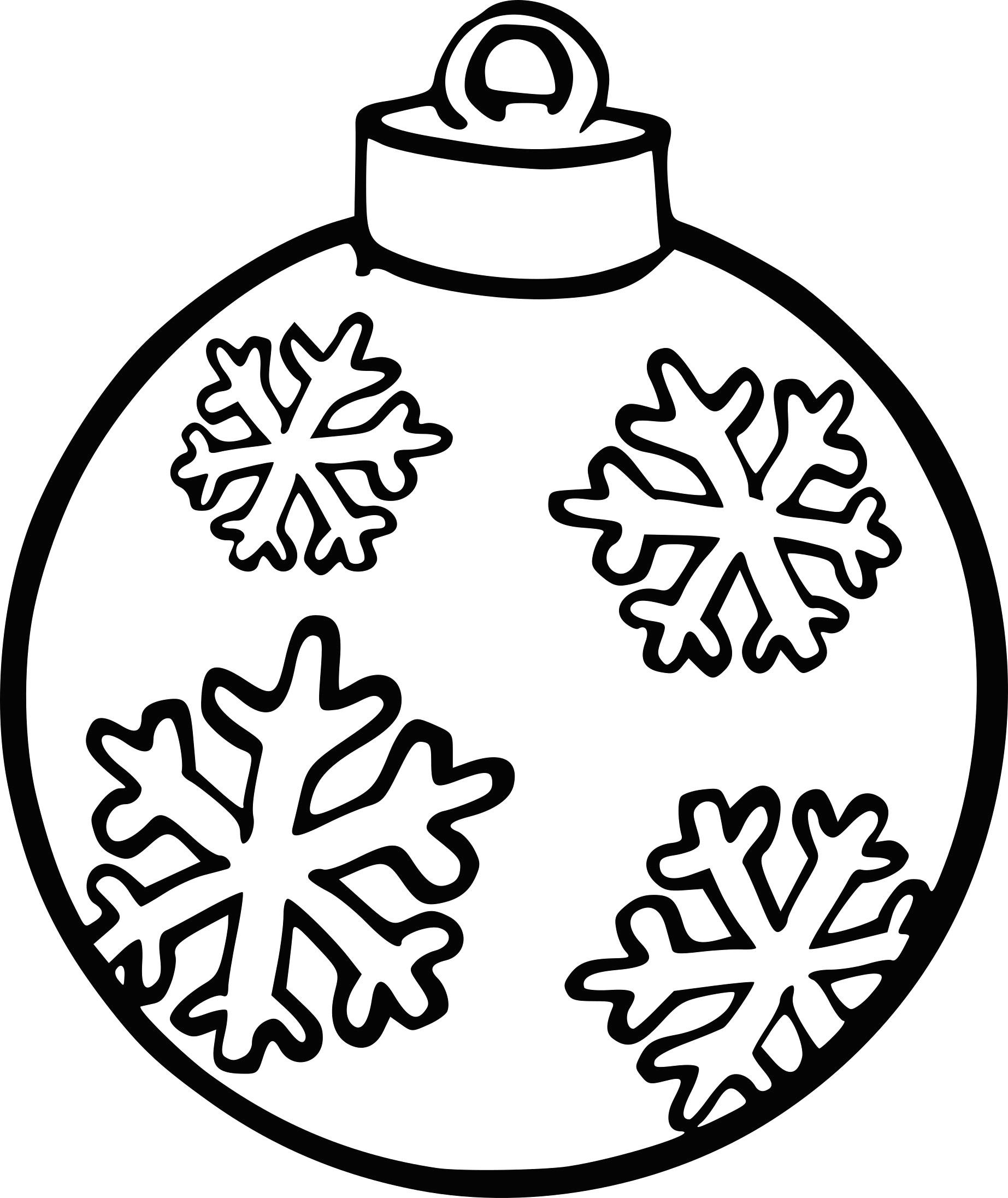 Dessin Boule De Noel encequiconcerne Flocon À Colorier