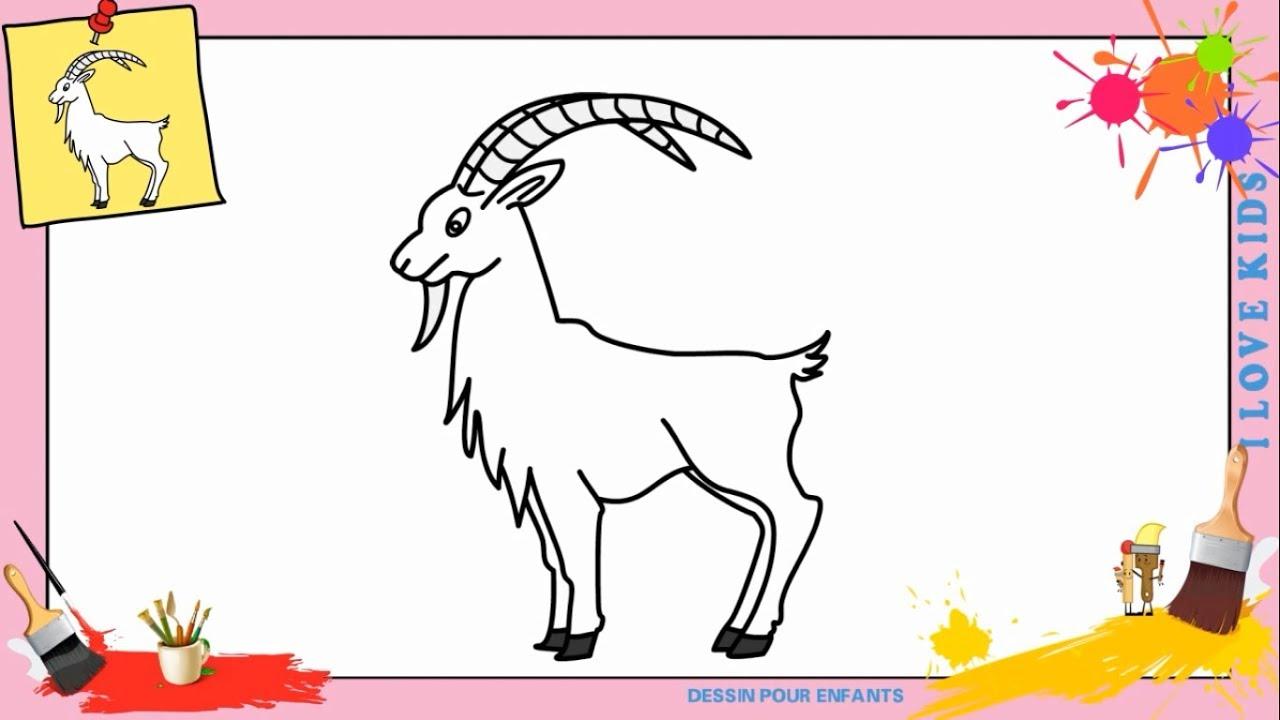 Dessin Chèvre Facile - Comment Dessiner Une Chèvre à Comment Dessiner Un Avion Avec Facile