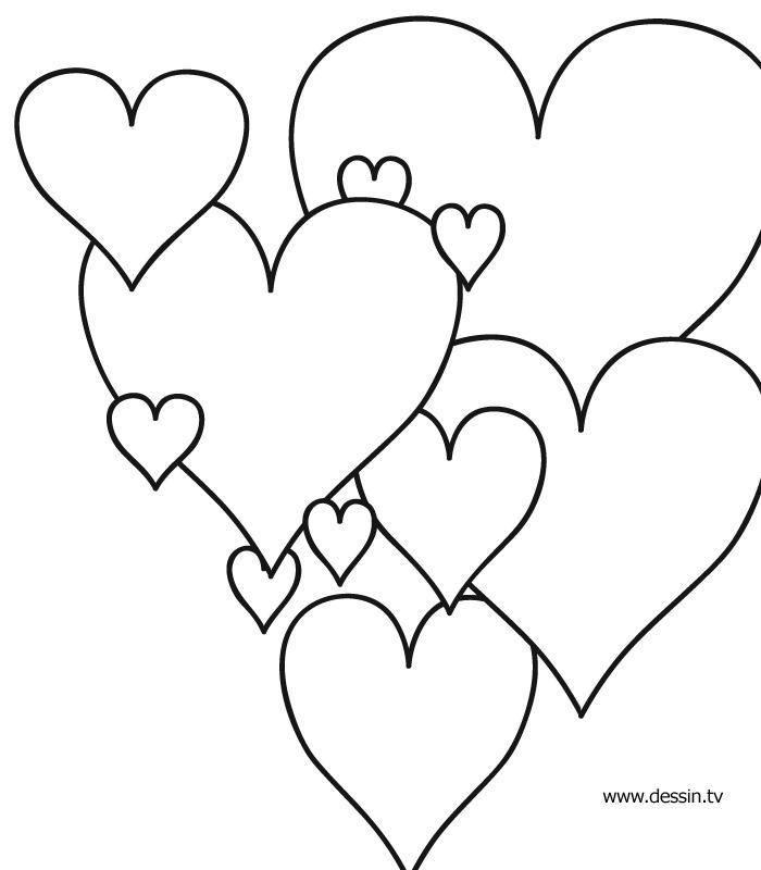 Dessin Coeur Bonne Fete Maman concernant Coloriage À Imprimer De Coeur