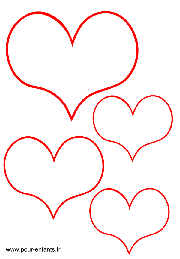 Dessin Coeurs concernant Dessin A Imprimer Coeur