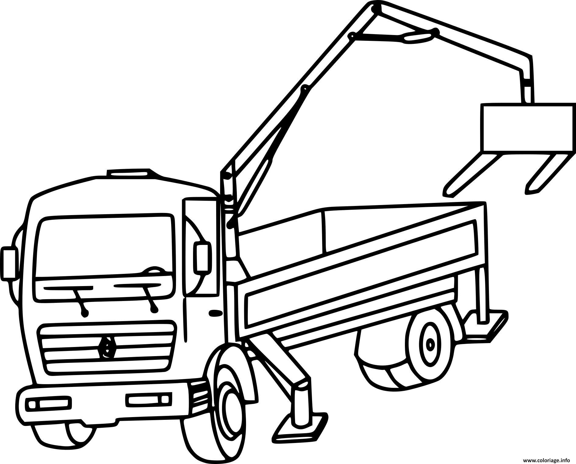 Dessin D Un Camion - Primanyc pour Coloriage Camion Grue