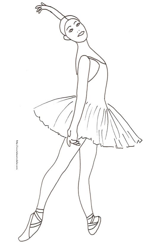 Dessin Danseuse destiné Coloriage Danseuse Étoile