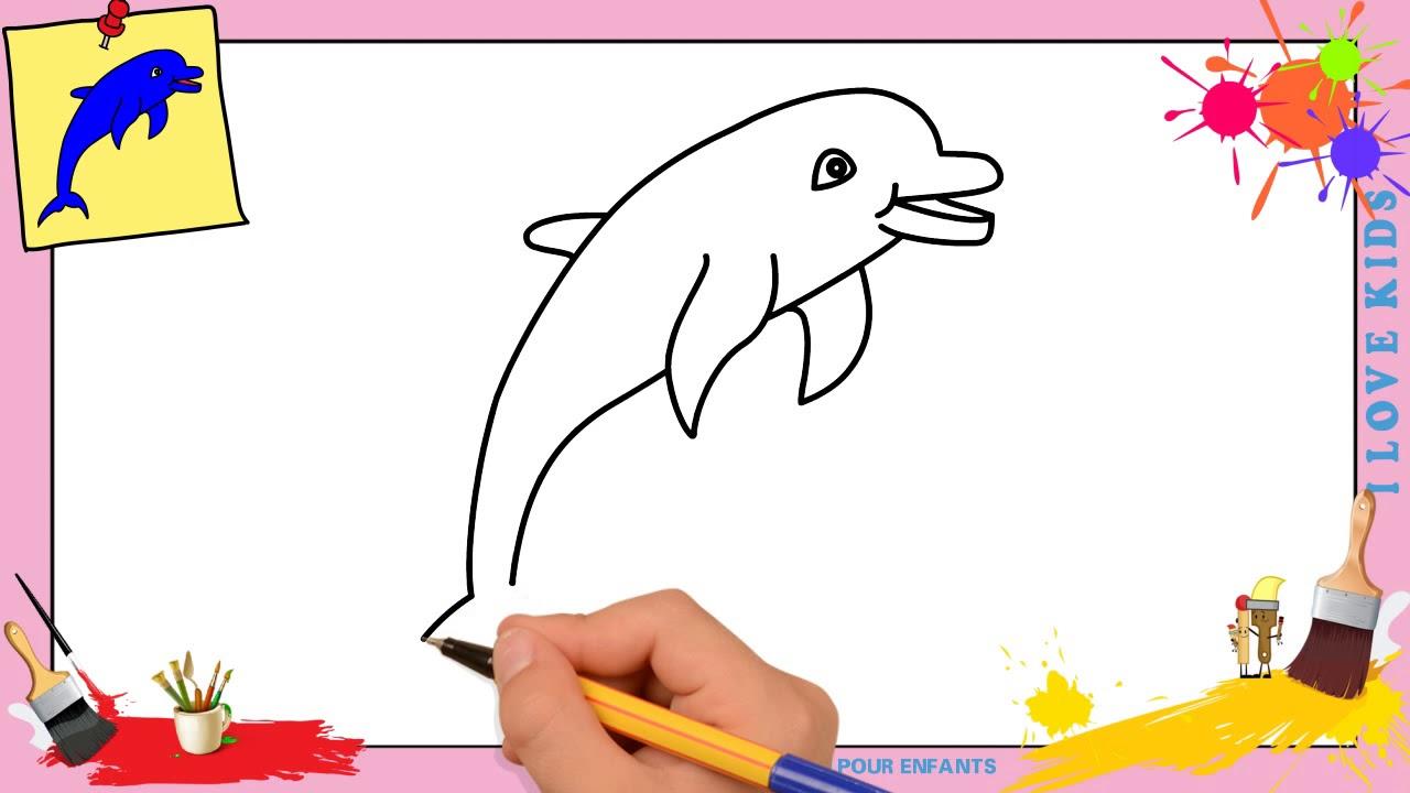 Dessin Dauphin 3 Facile - Comment Dessiner Un Dauphin concernant Dessin Fée Facile