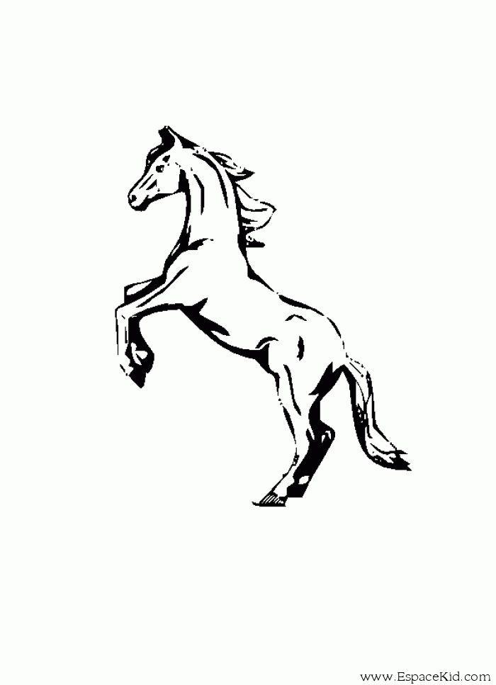 Dessin De Cheval – 3 Design avec Coloriage À Imprimer De Cheval