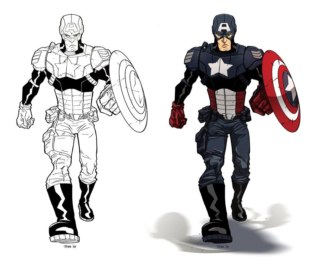 Dessin De Coloriage Captain America À Imprimer - Cp05912 avec Jeux De Capitaine America Gratuit