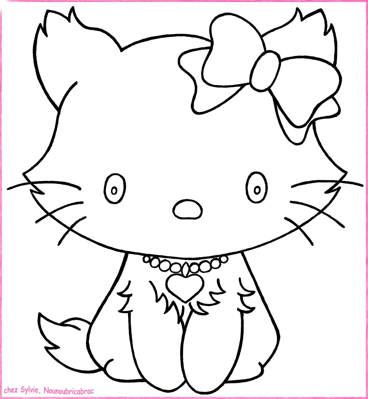 Dessin De Coloriage Chat À Imprimer - Cp06889 concernant Coloriage Pour Fille