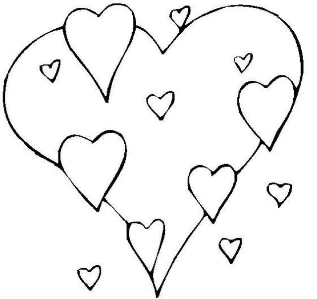 Dessin De Coloriage Coeur À Imprimer - Cp08546 destiné Coloriage À Imprimer De Coeur