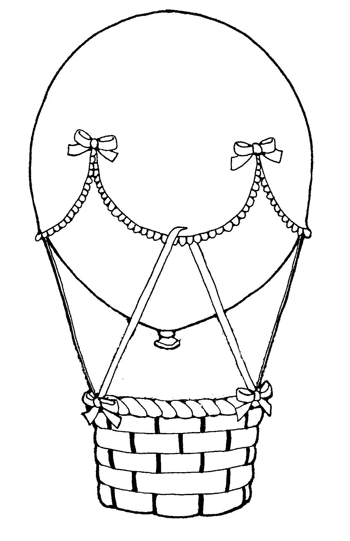 Dessin De Coloriage Montgolfiere À Imprimer - Cp18609 concernant Dessin De Montgolfière