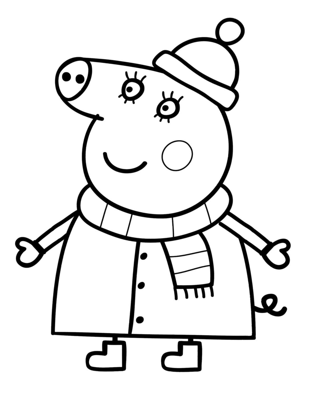 Dessin De Coloriage Peppa Pig À Imprimer - Cp20533 Nouveau destiné Jeux De Peppa Pig Gratuit