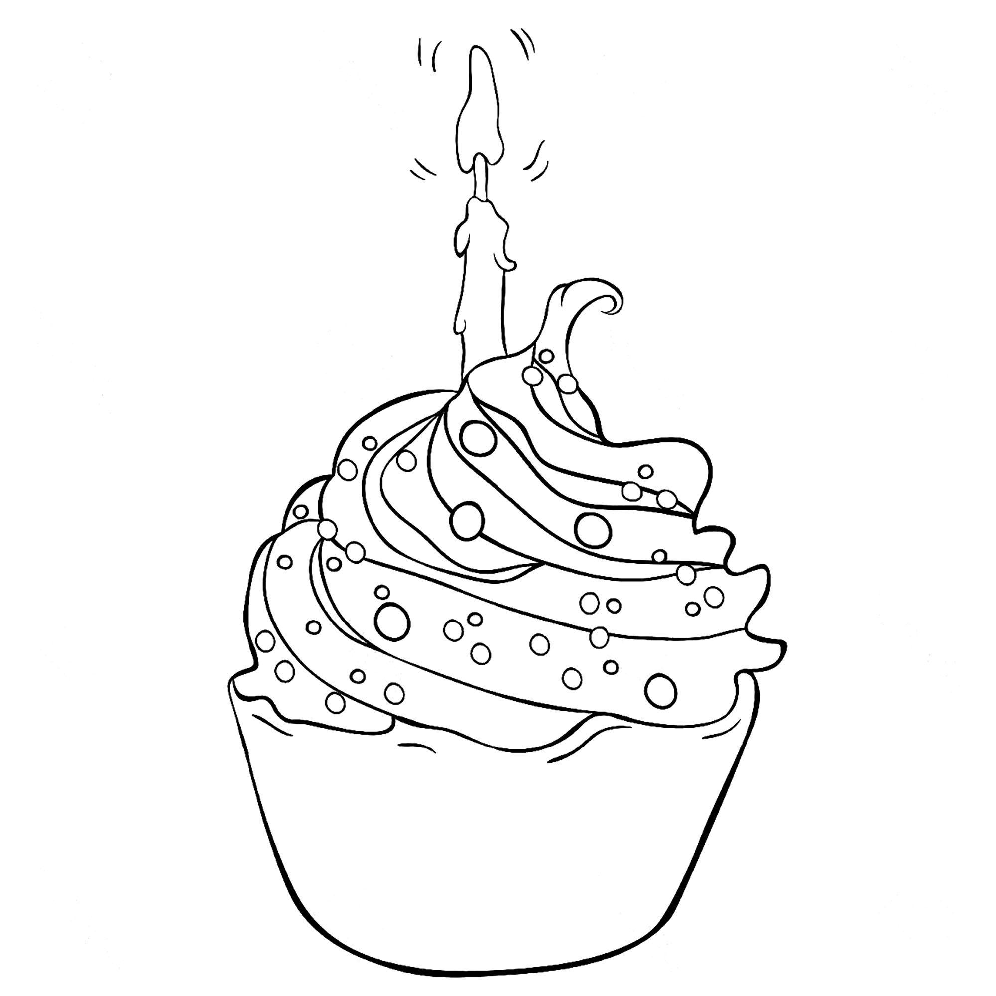 Dessin De Cupcake A Imprimer~Dessin De Cupcake À Imprimer dedans Coloriage De Cupcake