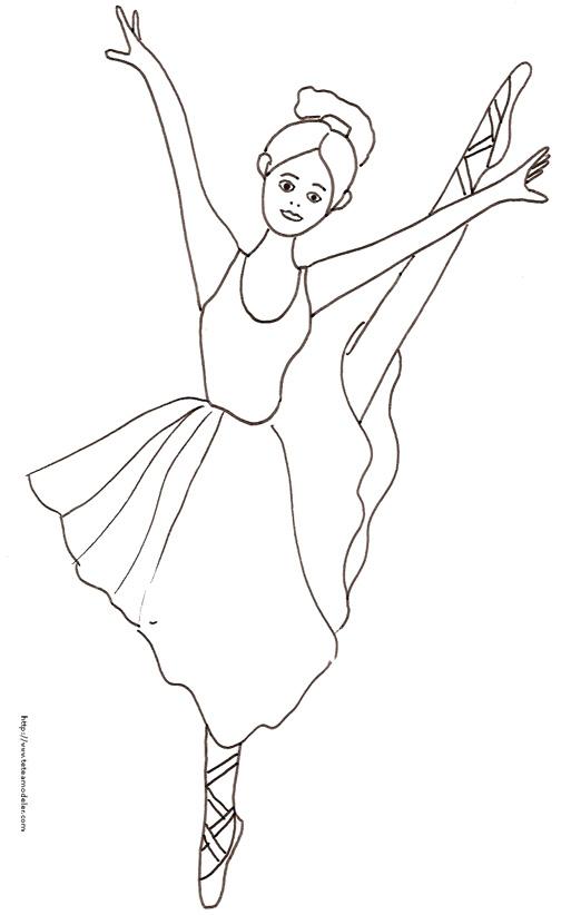 Dessin De Danseuse À Imprimer encequiconcerne Coloriage De Danseuse Classique A Imprimer