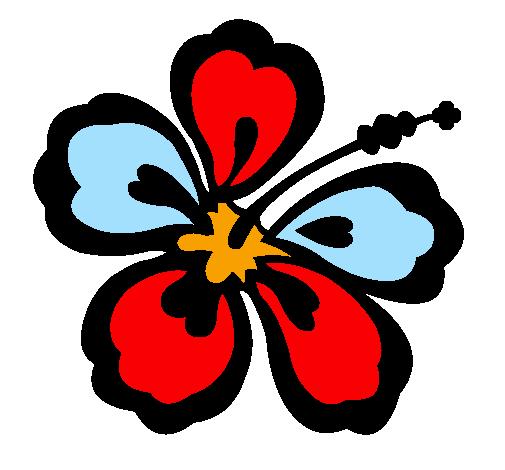 Dessin De Fleur Hawaïenne Colorie Par Membre Non Inscrit encequiconcerne Coloriage Hawaienne