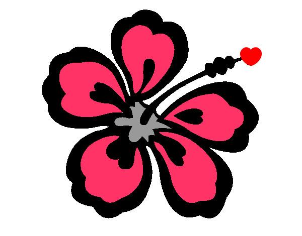Dessin De Fleur Hawaïenne Colorie Par Rime Le 22 De avec Coloriage Hawaienne