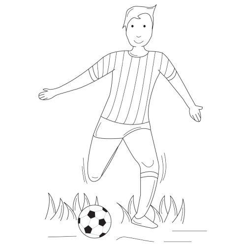 Dessin De Footballeur - Les Dessins Et Coloriage à Coloriage De Footballeur