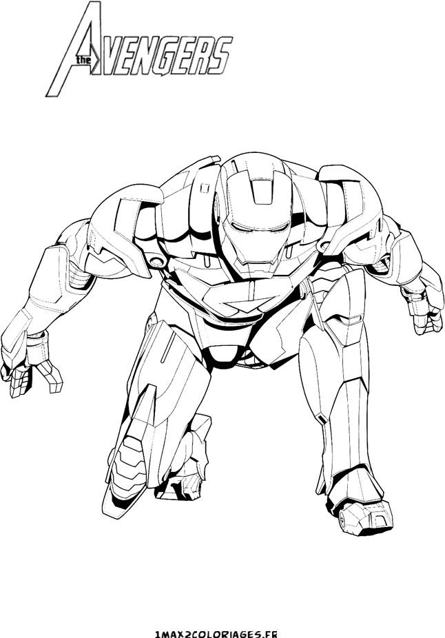Dessin De Iron Man (5) dedans Coloriage Iron Man À Imprimer