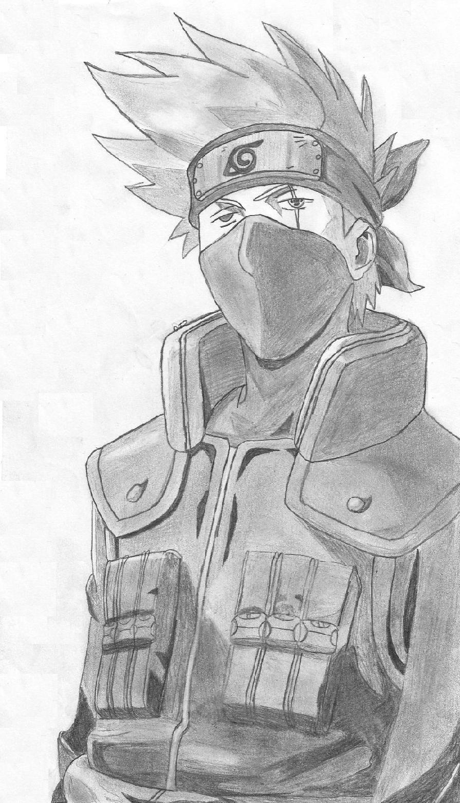 Dessin De Kakashi (2) tout Coloriage Naruto Et Kakashi