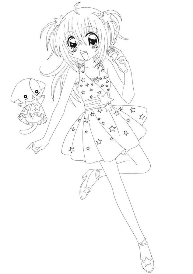 Dessin De Kilari avec Dessin Manga A Imprimer