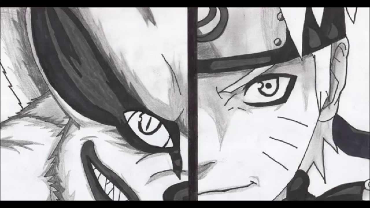 Dessin De Kyubi Et Naruto Uzumaki Dans Naruto - concernant Dessin De Na Ruto A In Primer