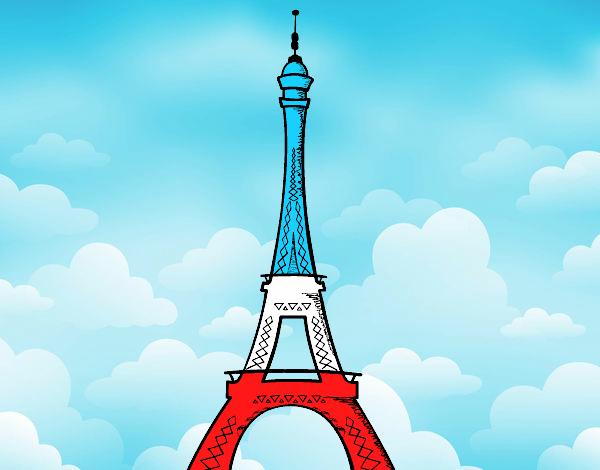 Dessin De La Tour Eiffel Colorie Par Membre Non Inscrit Le intérieur Tour Effel Dessin