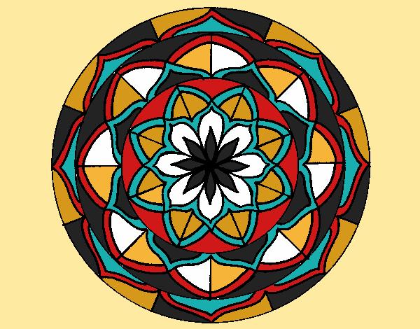 Dessin De Mandala 6 Colorie Par Christiane Le 26 De destiné Mandala Colorié