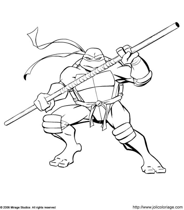 Dessin De Ninja - Les Dessins Et Coloriage destiné Coloriage Tortue Ninja A Imprimer Gratuit