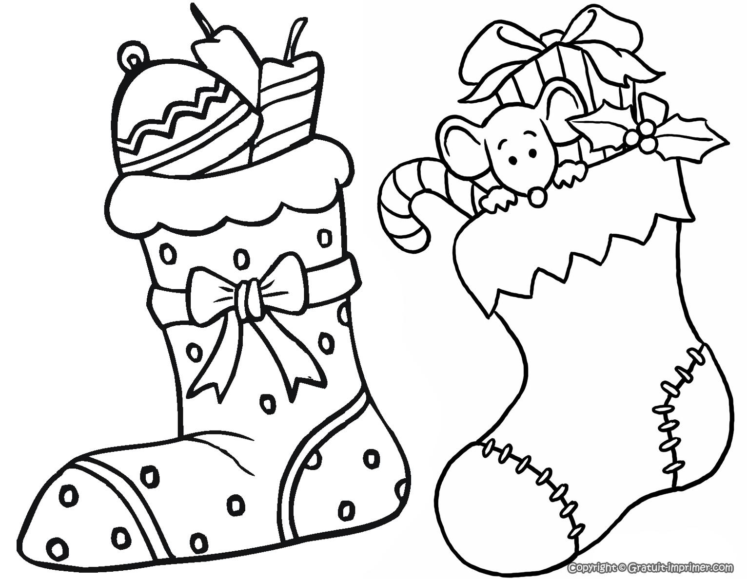 Dessin De Noel (3) destiné Coloriage A4 À Imprimer