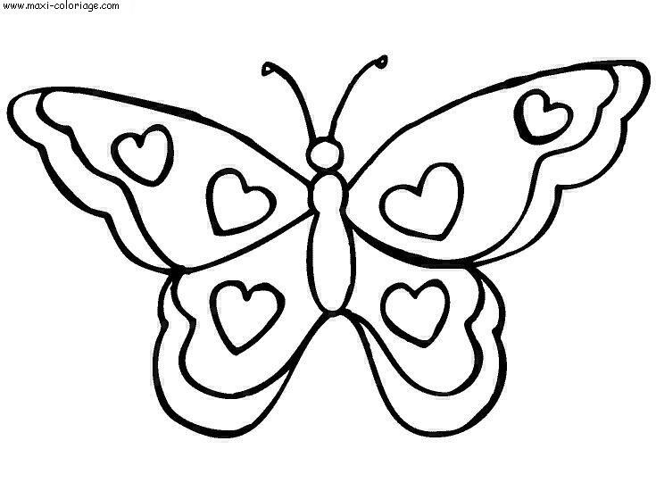 Dessin De Papillon A Imprimer - Les Dessins Et Coloriage serapportantà Papillon Dessin Facile