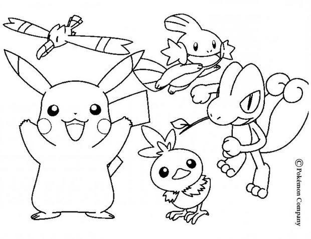 Dessin De Pikachu Pokemon avec Coloriage A Imprimer Pokemon Pikachu