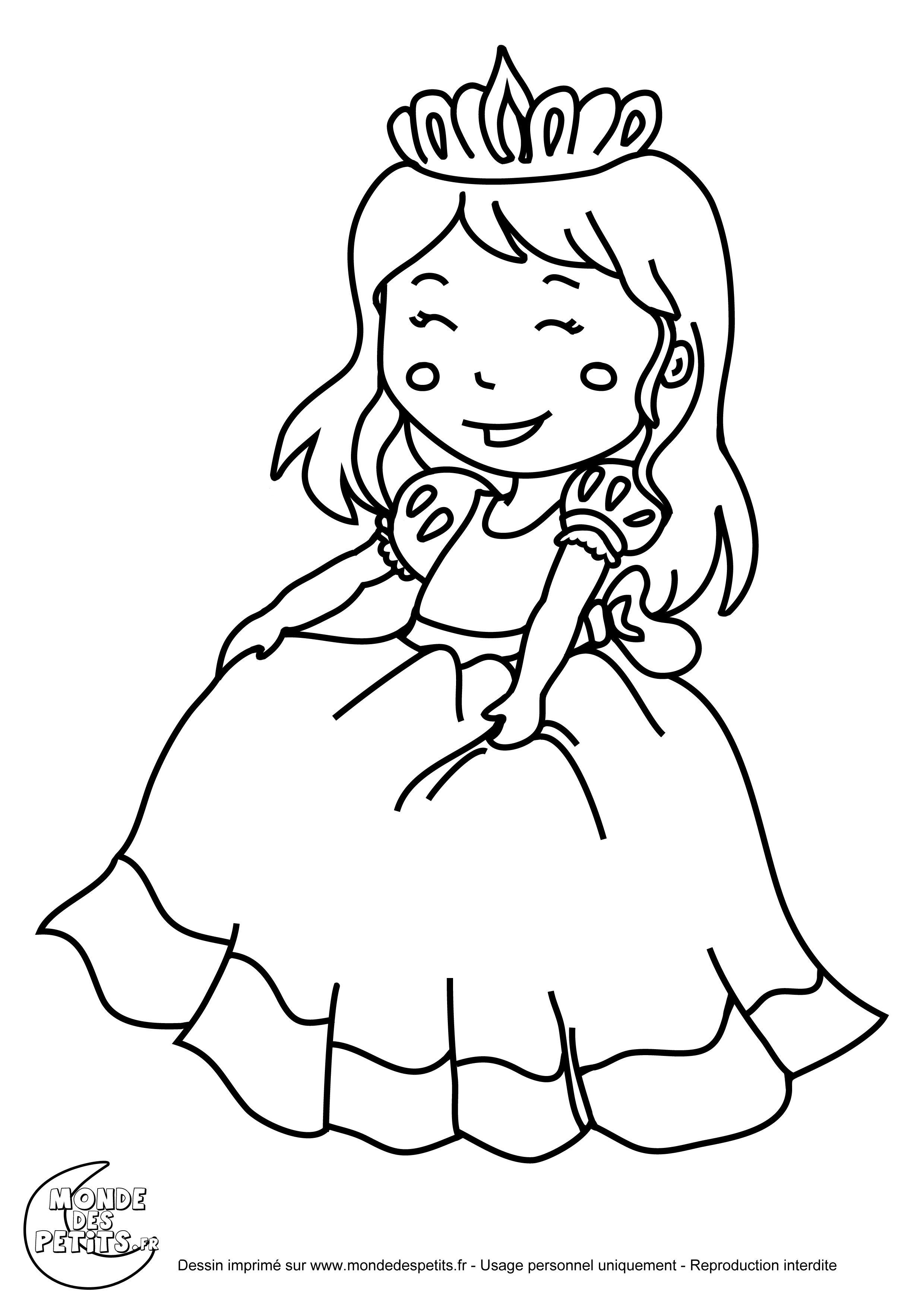 Dessin De Princesse À Colorier - Image À Imprimer #12 à Coloriage De Toute Les Princesse