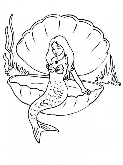 Dessin De Sirene - Les Dessins Et Coloriage tout Coloriage De Sirene