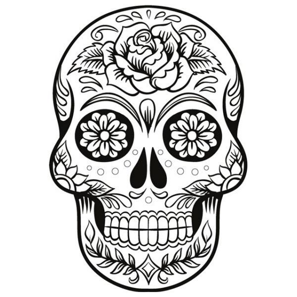 Dessin De Tete De Mort - Ohbq avec Tete De Mort A Colorier