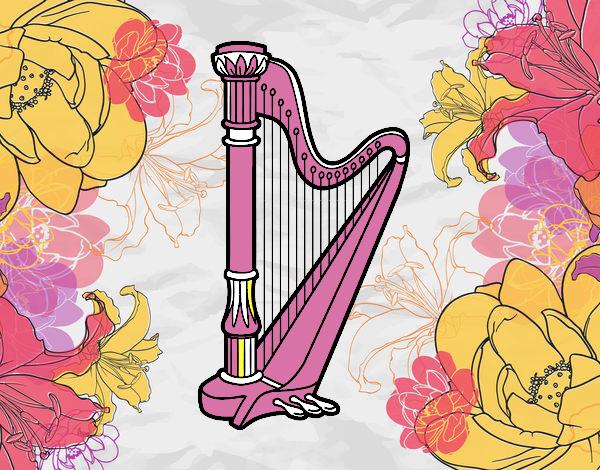 Dessin De Une Harpe Colorie Par Membre Non Inscrit Le 17 destiné Dessin Harpe