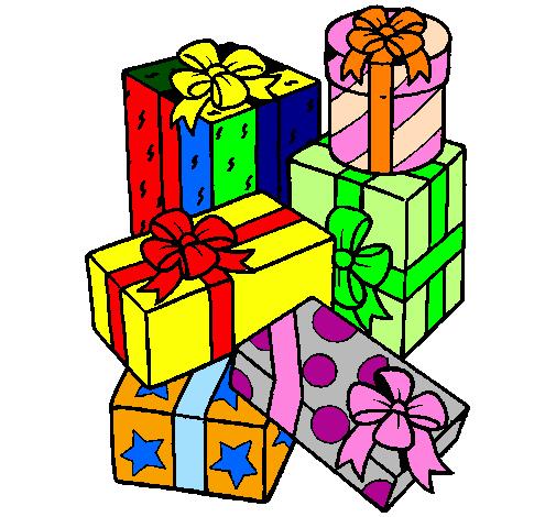 Dessin De Une Montagne De Cadeaux Colorie Par Membre Non dedans Dessin Cadeau De Noel