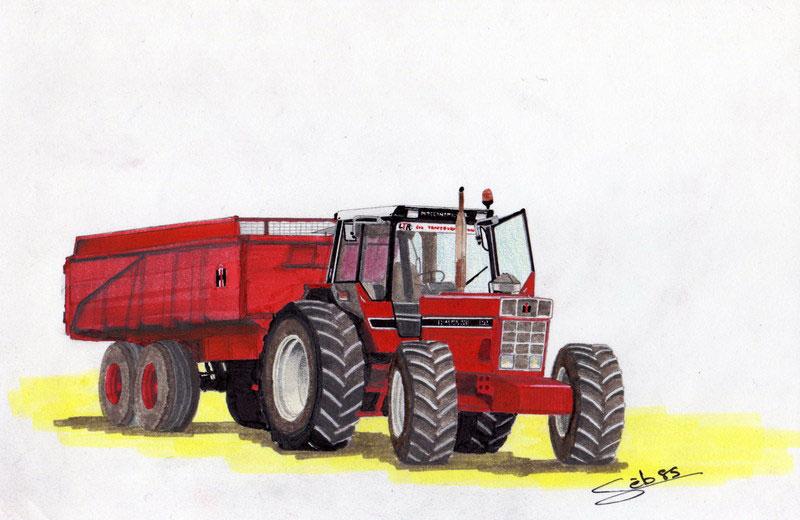 Dessin D'Ih Suite - Page 21 - Les Tracteurs Rouges tout Coloriage De Tracteur À Imprimer