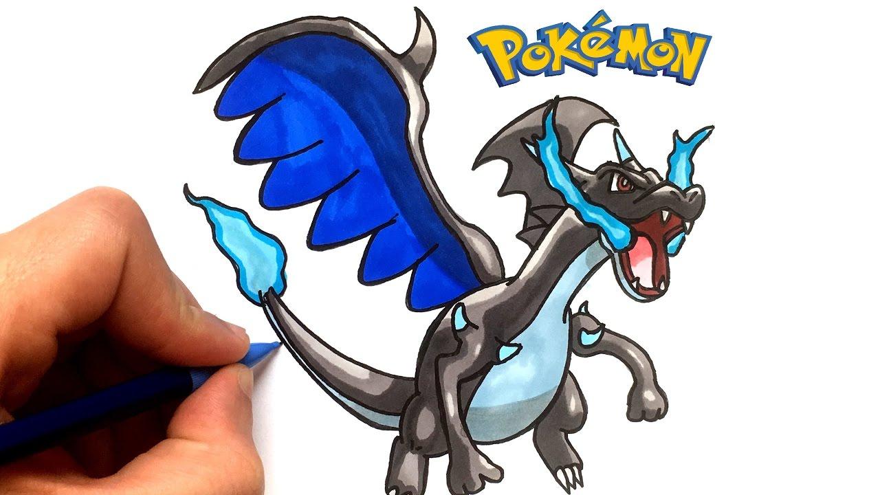 Dessin Dracaufeu X ! Pokémon - intérieur Dessiner Des Pokémon