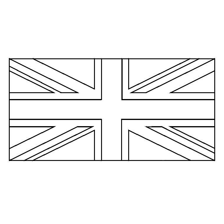Dessin Drapeau Angleterre destiné Drapeau De L Angleterre À Colorier