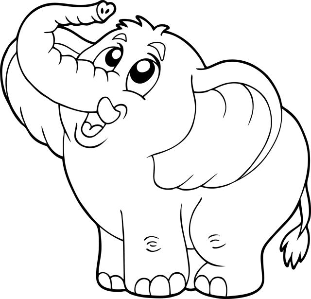 Dessin Elephant De Mer à Coloriage Kangourou A Imprimer Gratuit