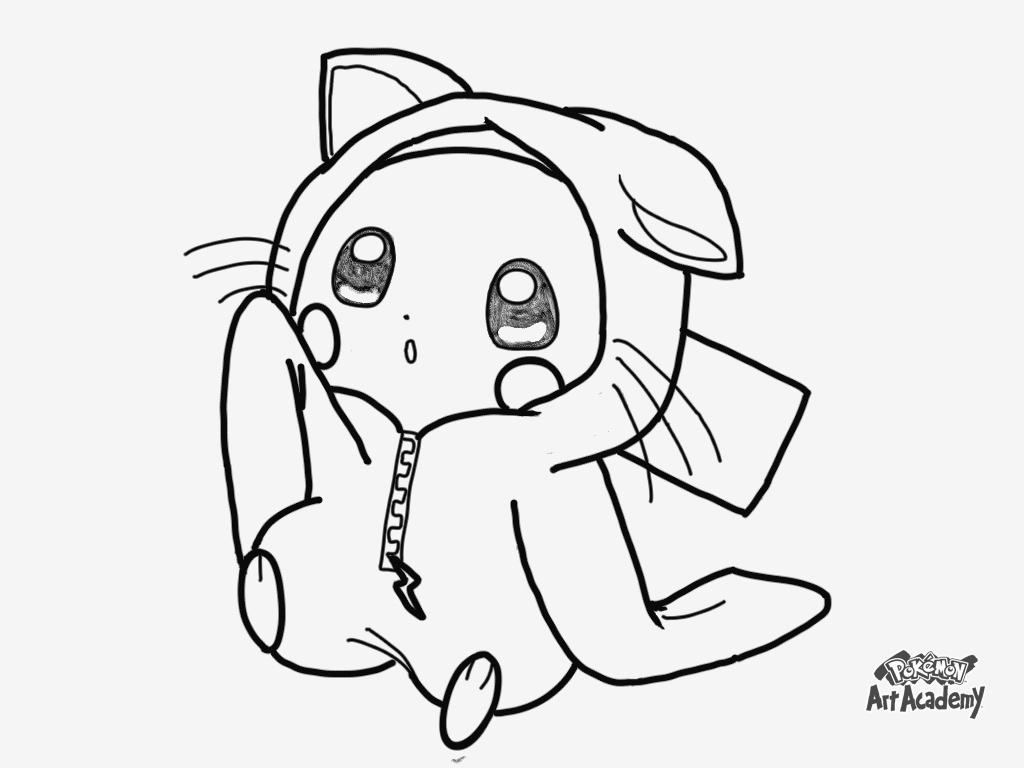 Dessin En Ligne Pokemon Pikachu à Coloriage A Imprimer Pokemon Pikachu