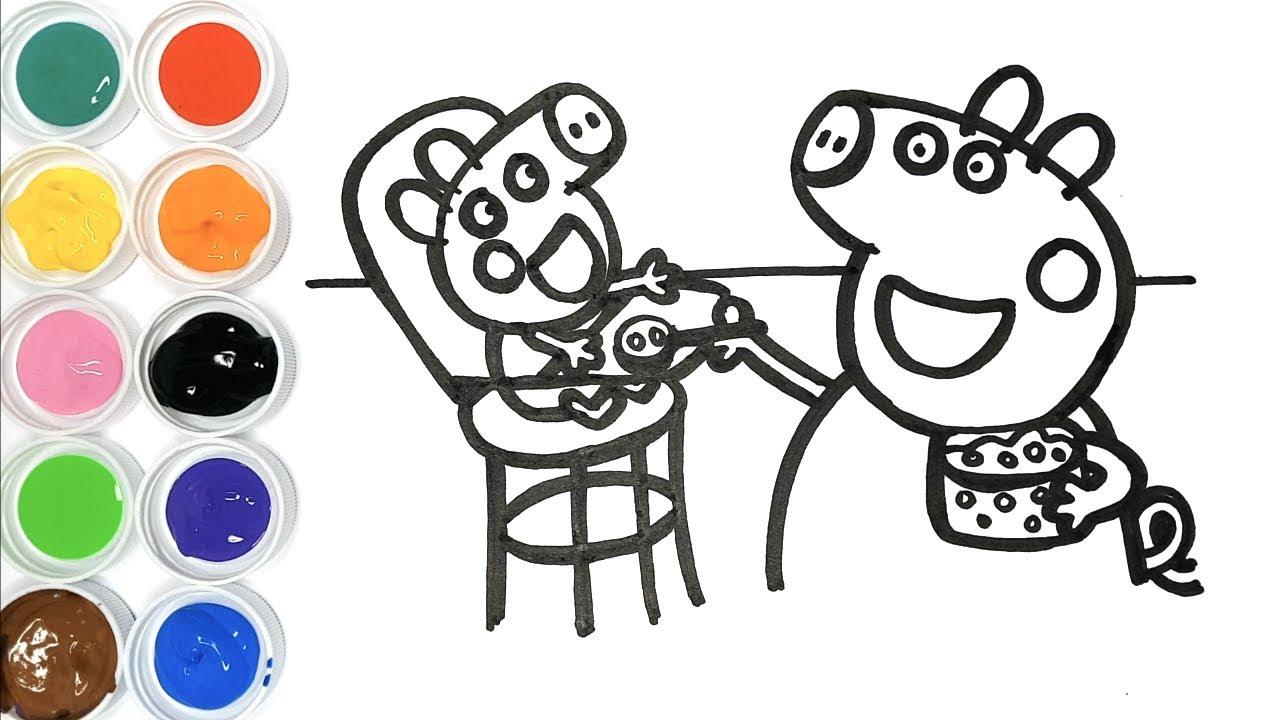 Dessin Et Coloriage Peppa Pig Et Bébé Alexandre - Dessin tout Colloriage