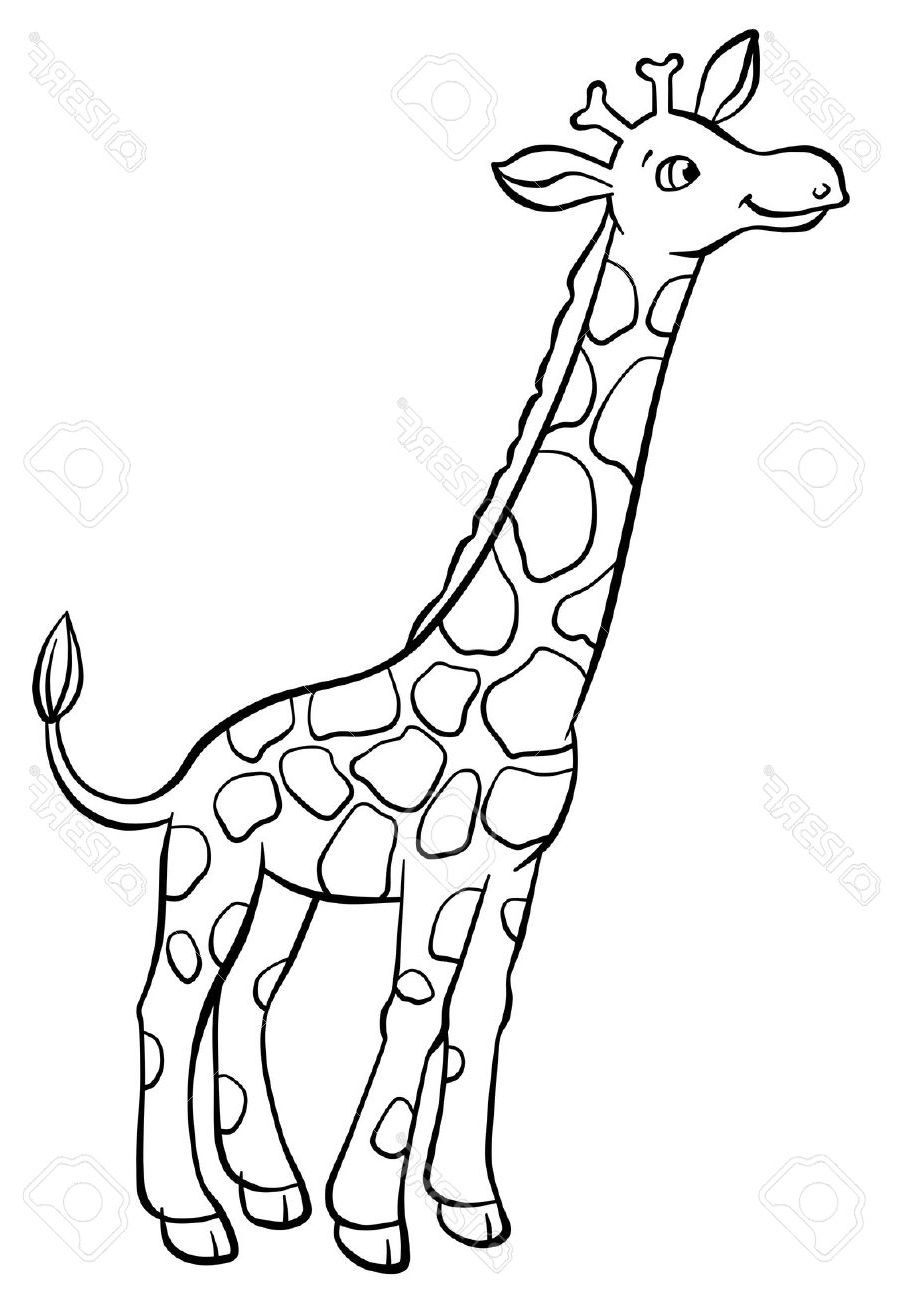 Dessin Facile De Girafe dedans Dessin Girafe Simple