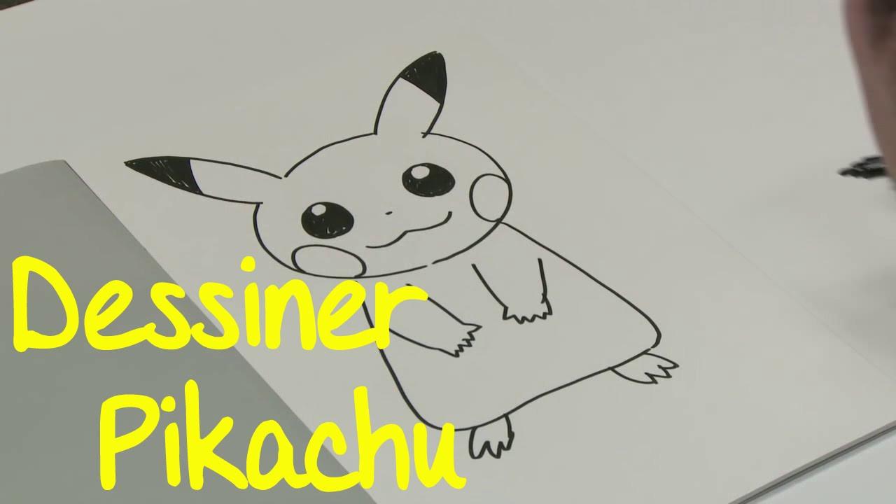 Dessin Facile Dessiner Pikachu Pokemon  – 3 Design encequiconcerne Modele De Pokemon A Dessiner
