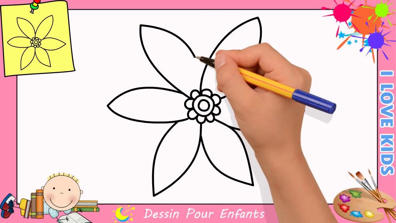 Dessin Facile Fleur Etape - Dessin Facile tout Comment Dessiner Un Diable Facilement