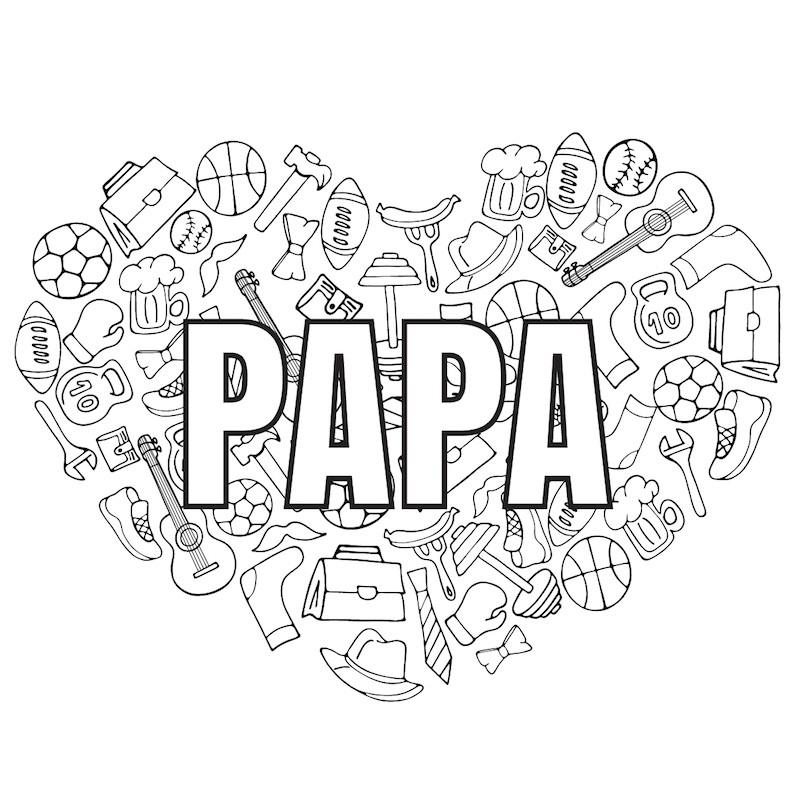 Dessin Fête Des Pères #07 : Votre Coloriage Pour Papa Avec à Dessin  Pour La Fete Des Pere
