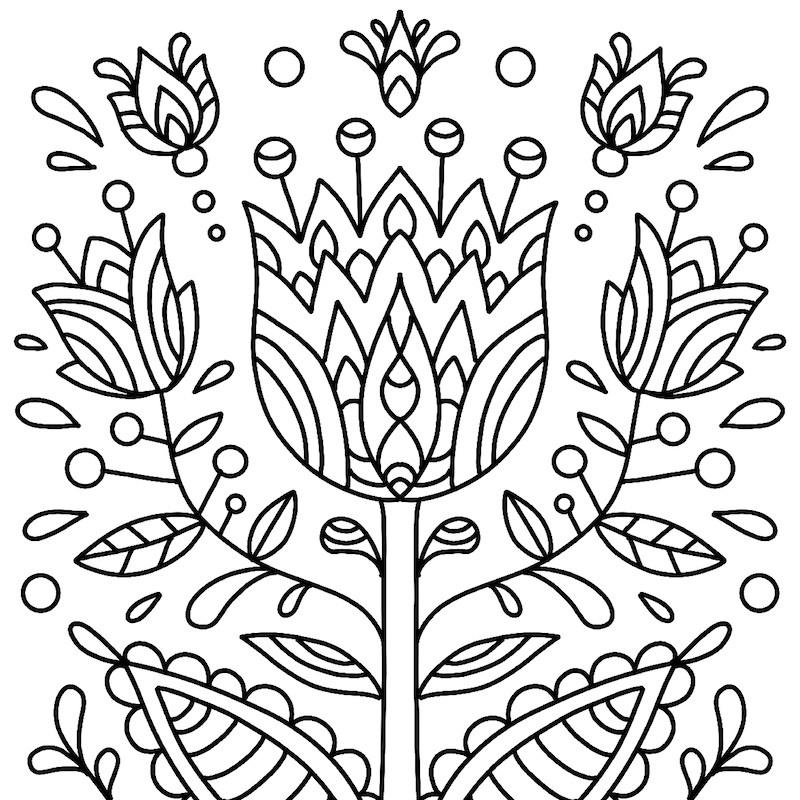 Dessin Fleur #09 - Un Dessin De Tête À Modeler dedans Coloriage Fleur