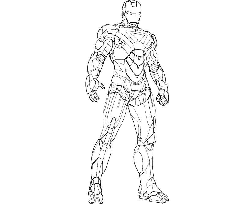 Dessin Iron Man Avengers tout Dessin A Colorier Gratuit Iron Man