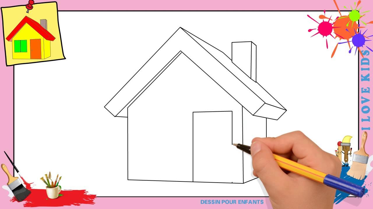 Dessin Maison Comment Dessiner Une Maison Facilement Etape avec Dessin Maison Facile
