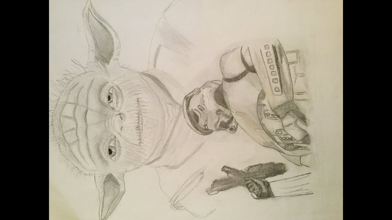 Dessin Maitre Yoda (Starwars) - serapportantà Maitre Yoda Dessin