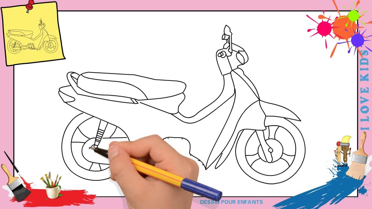 Dessin Moto - Comment Dessiner Une Moto Facilement Etape dedans Etapes Pour Dessiner Facilement Des Tulipes